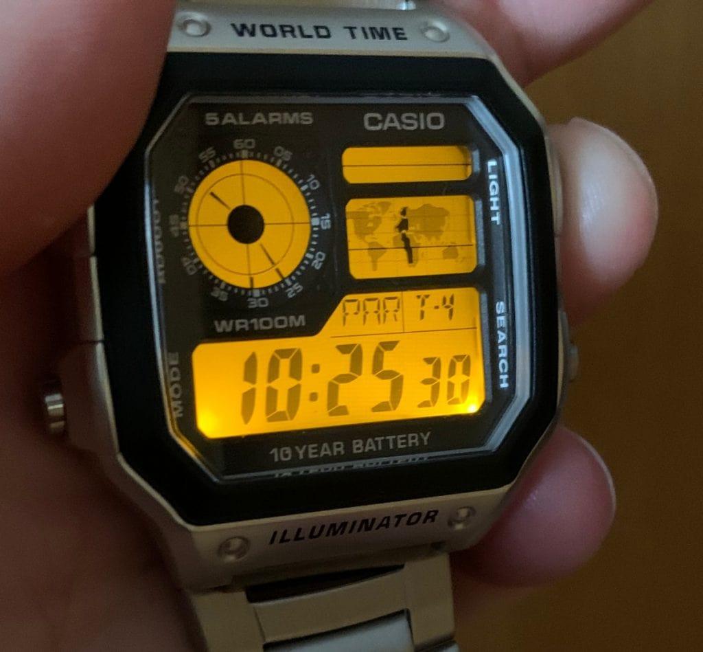 """Casio AE-1200 - """"Casio Royale"""": luz LED"""