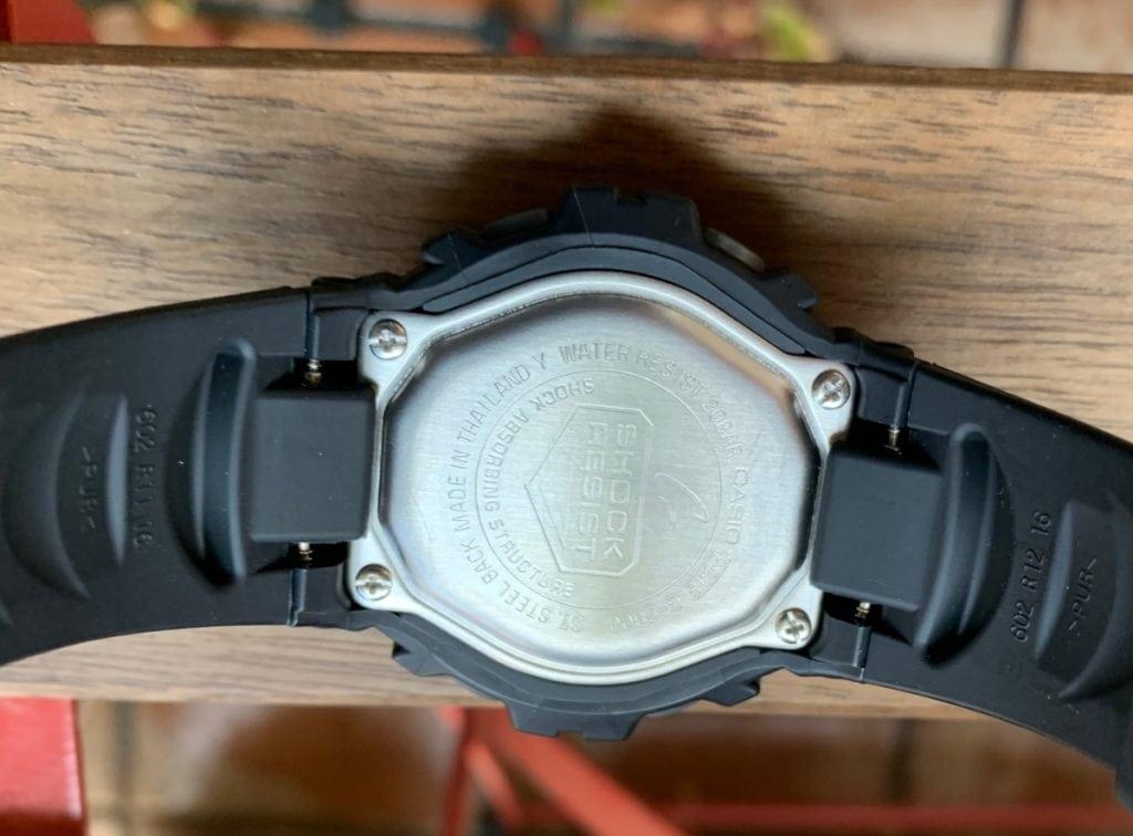 Casio G-Shock G-2900F: parte trasera