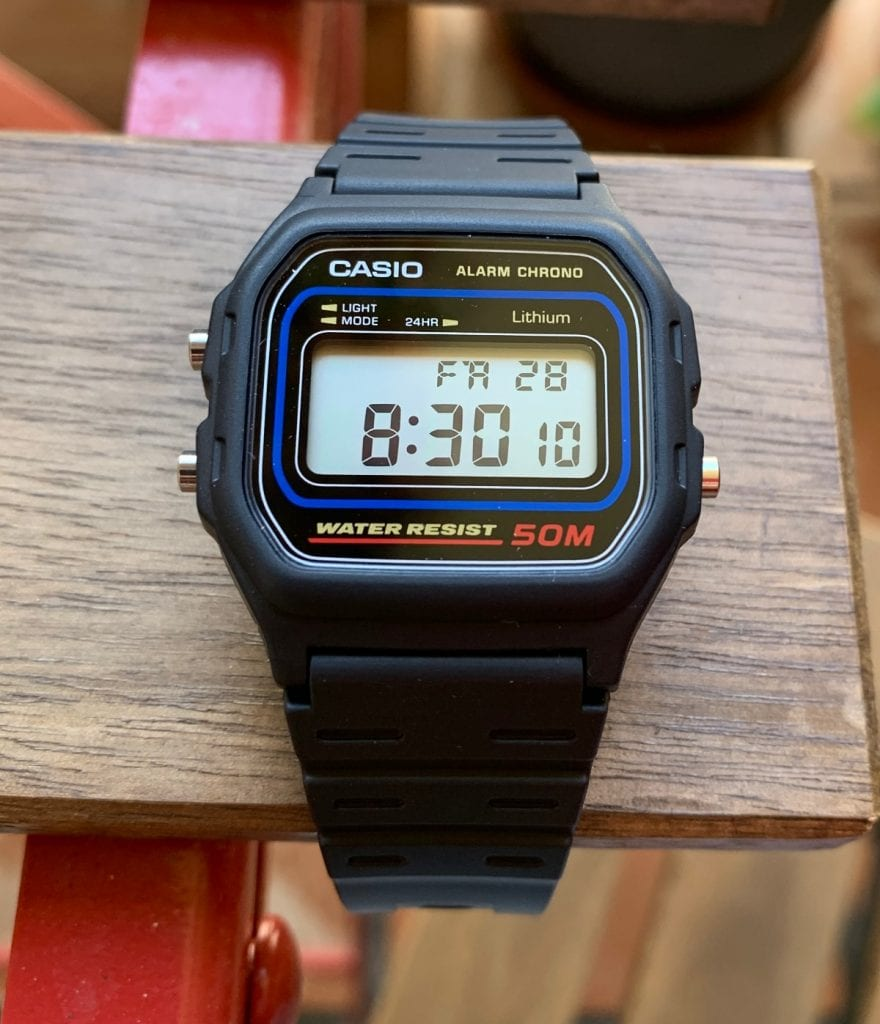 Casio W-59: pantalla