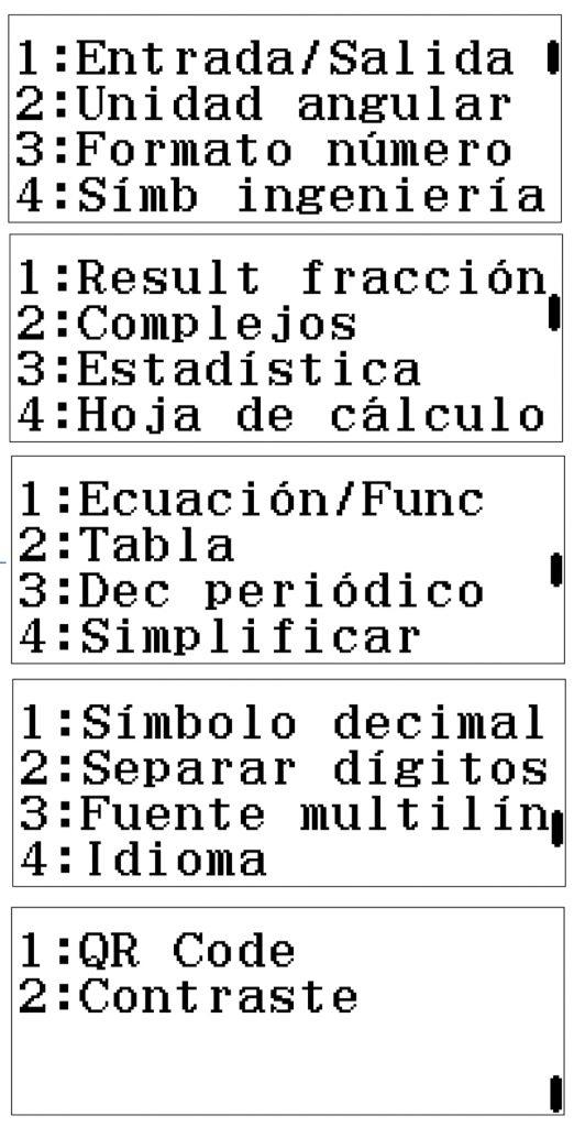 configuracion calculadora cientifica