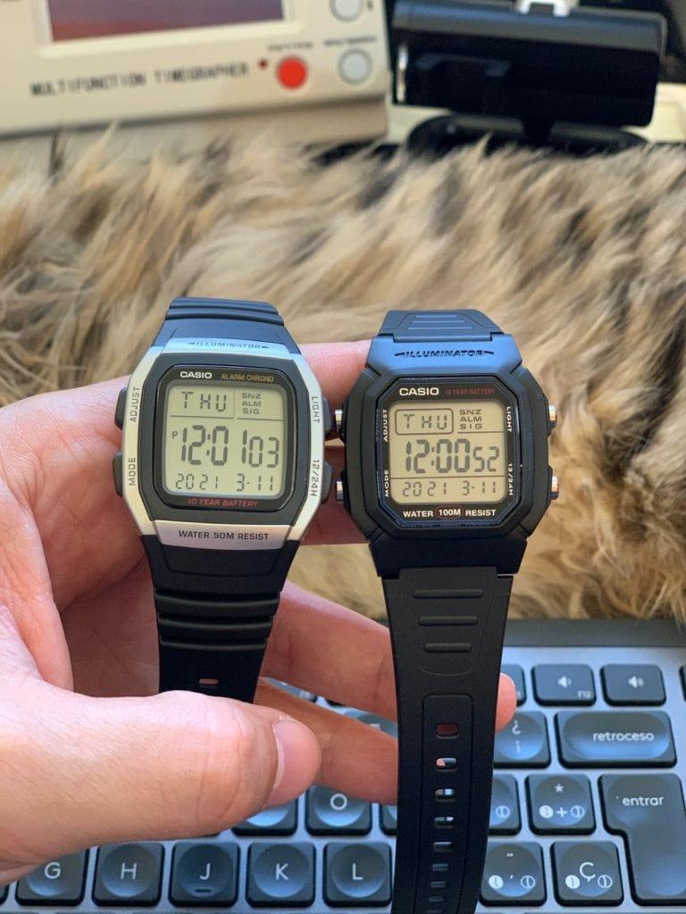 Casio W-96H y Casio W-800H