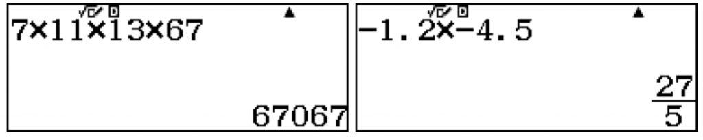Salida con decimales o fracciones