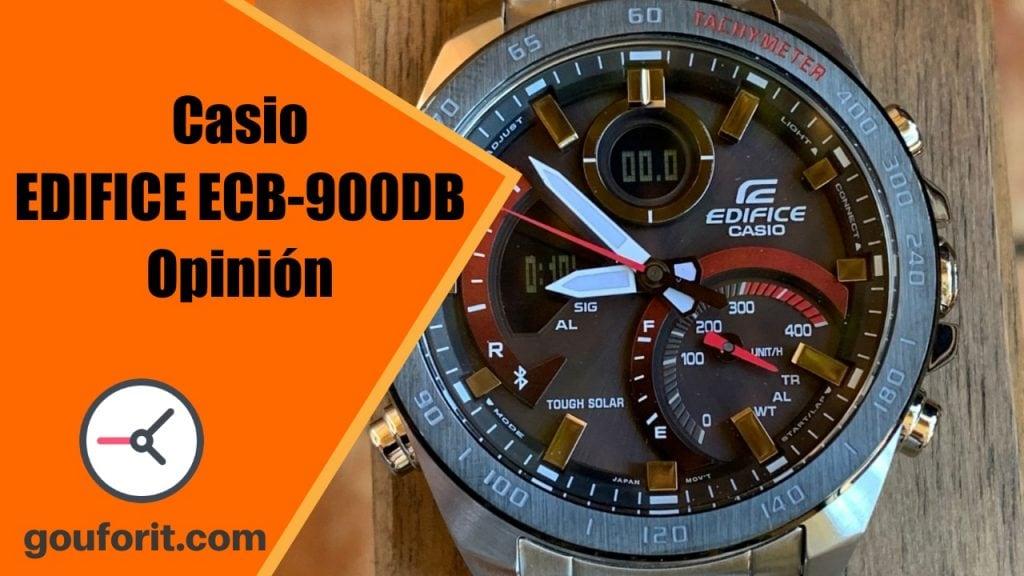 Casio EDIFICE ECB-900DB - Reloj con velocímetro para los fans de la Formula I - Opinión