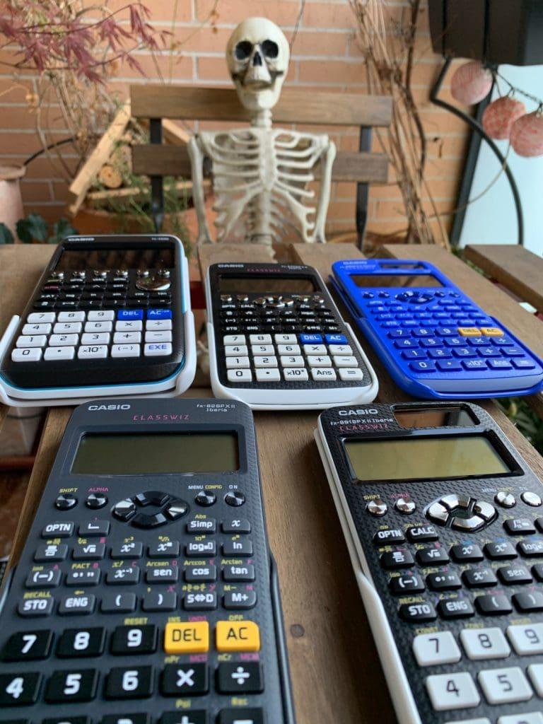 Casio fx-991SPX II Iberia, Casio fx-570SP X II Iberia, Casio fx-85SPX II Iberia, Casio fx-82SPX II Iberia y Casio FX-CG50