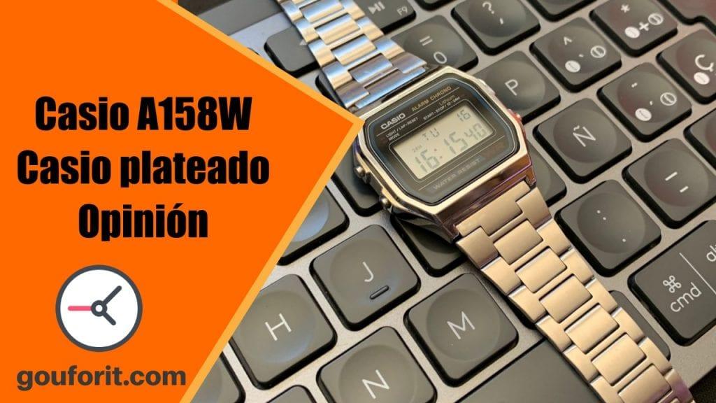 Casio A158W - El Casio plateado más barato - Opinión