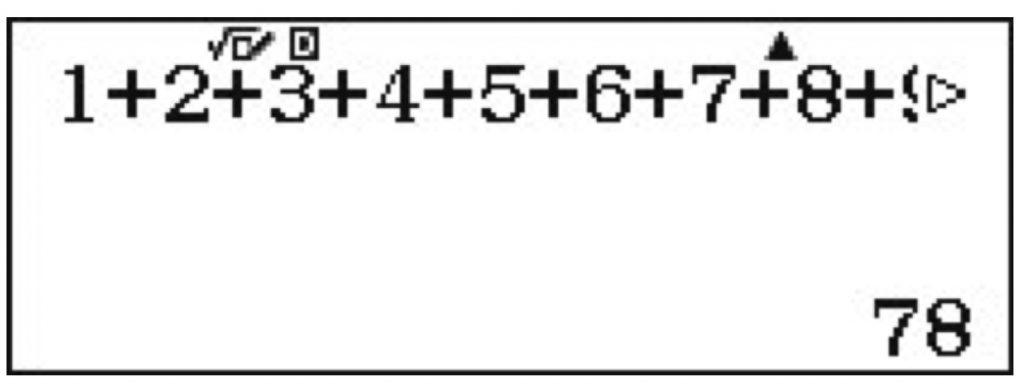 símbolos de flecha indicándote que puedes moverte con los cursores