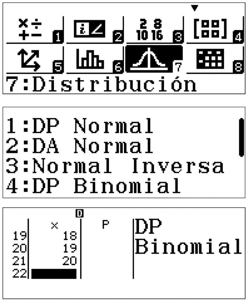 distribucion calculadora