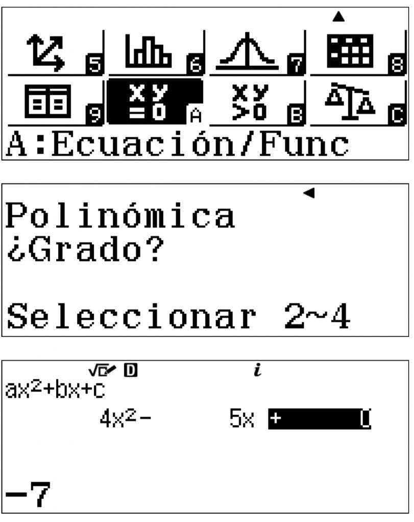 Ecuaciones y funciones calculadora