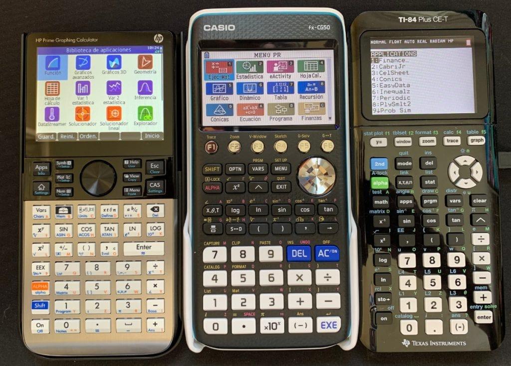 hp prime vs casio fx-cg50 vs ti-84-plus ce