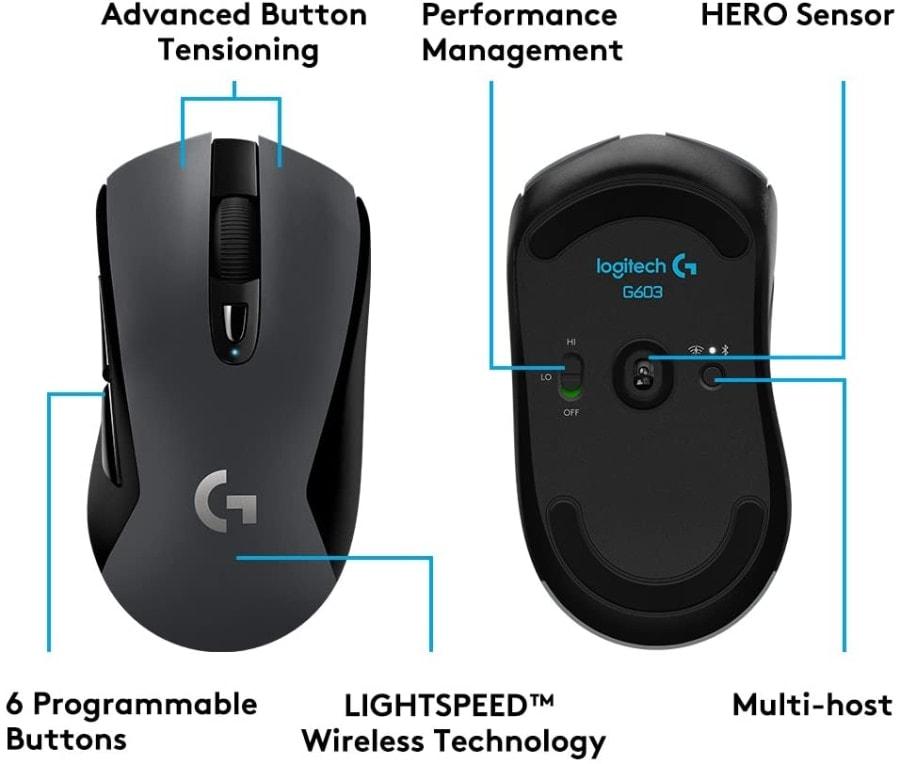 Logitech G603: ratón inalámbrico para gaming con un precio muy barato