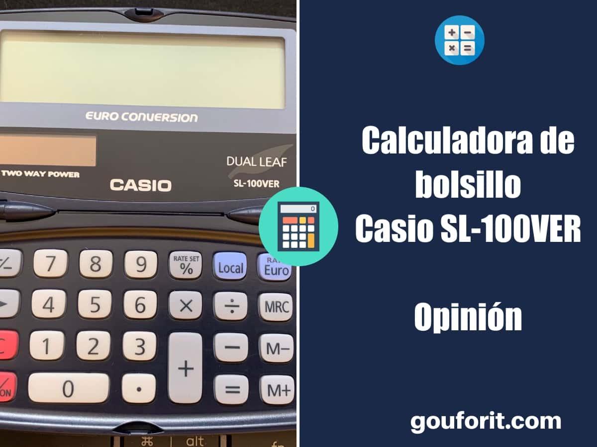 Casio SL-100VER - Calculadora de bolsillo - Opinión