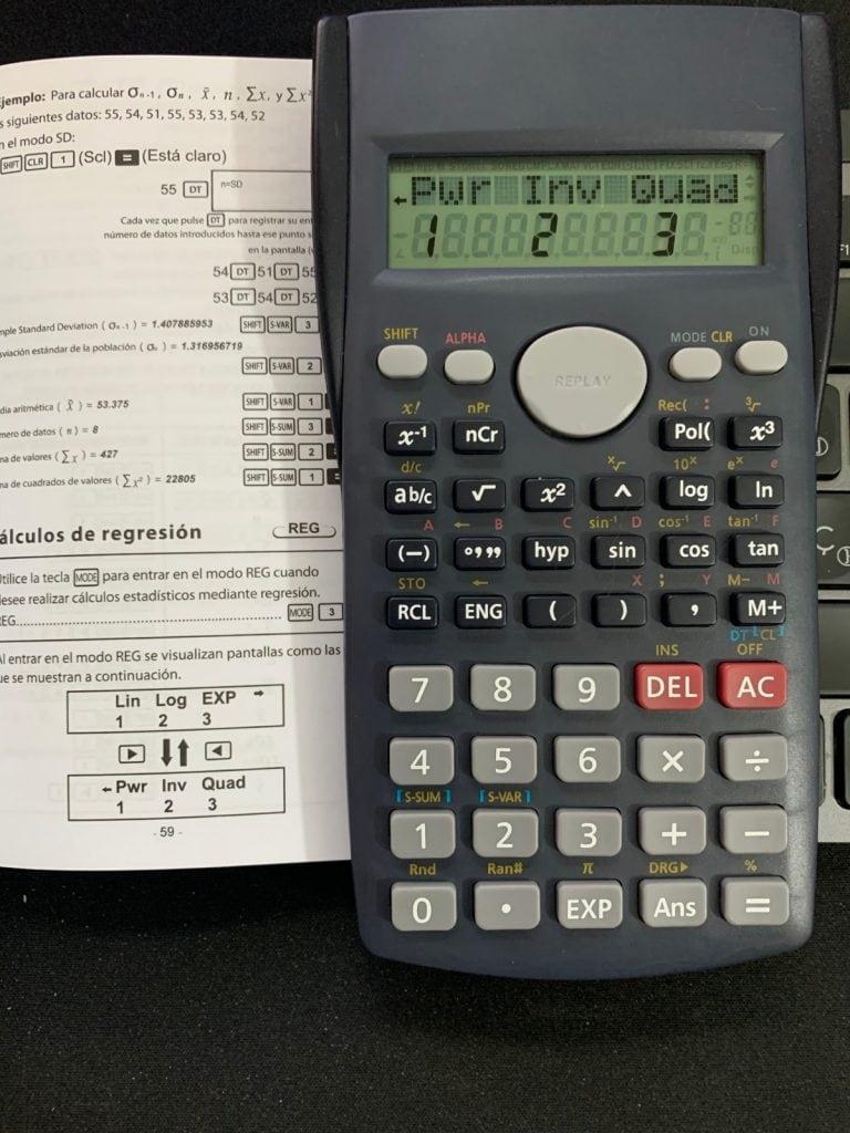 Calculadora científica Helect H-1002: funciones