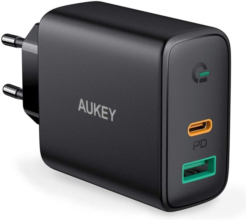 AUKEY USB C Cargador de Red con Dynamic Detect