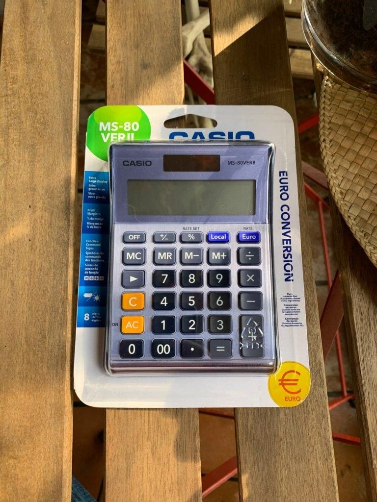 Calculadora de sobremesa Casio MS-80VERII: características y diseño