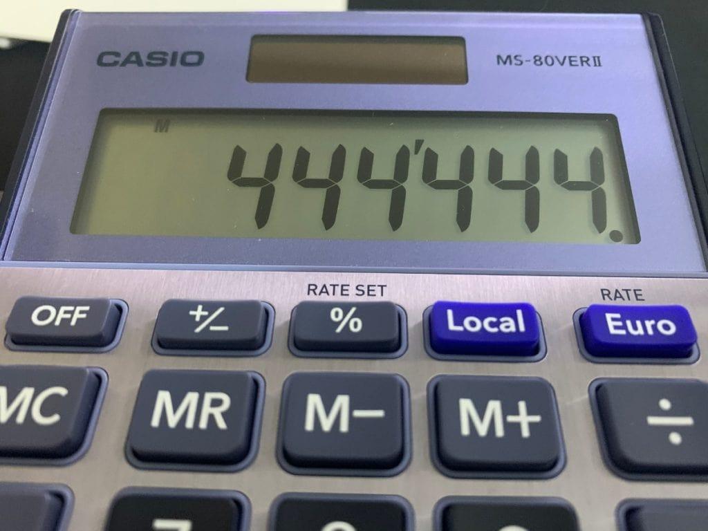 Calculadora de sobremesa Casio MS-80VERII: pantalla