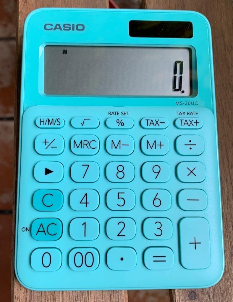 Calculadora de sobremesa Casio MS-20UC: teclas