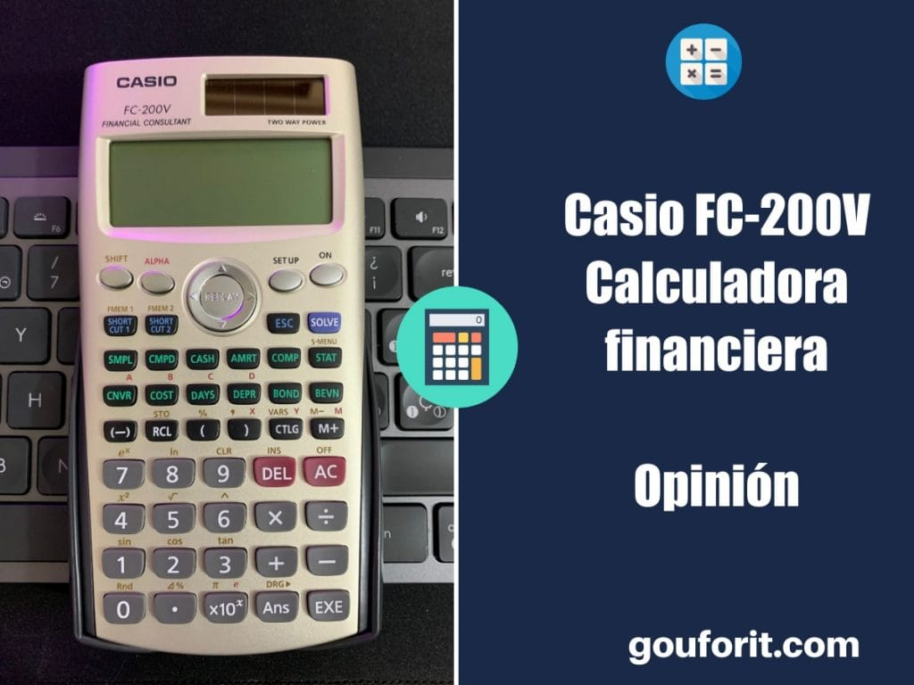 Casio FC-200V - Calculadora financiera