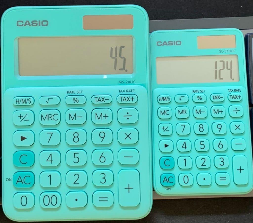 Casio MS-20UC y Casio SL-310UC