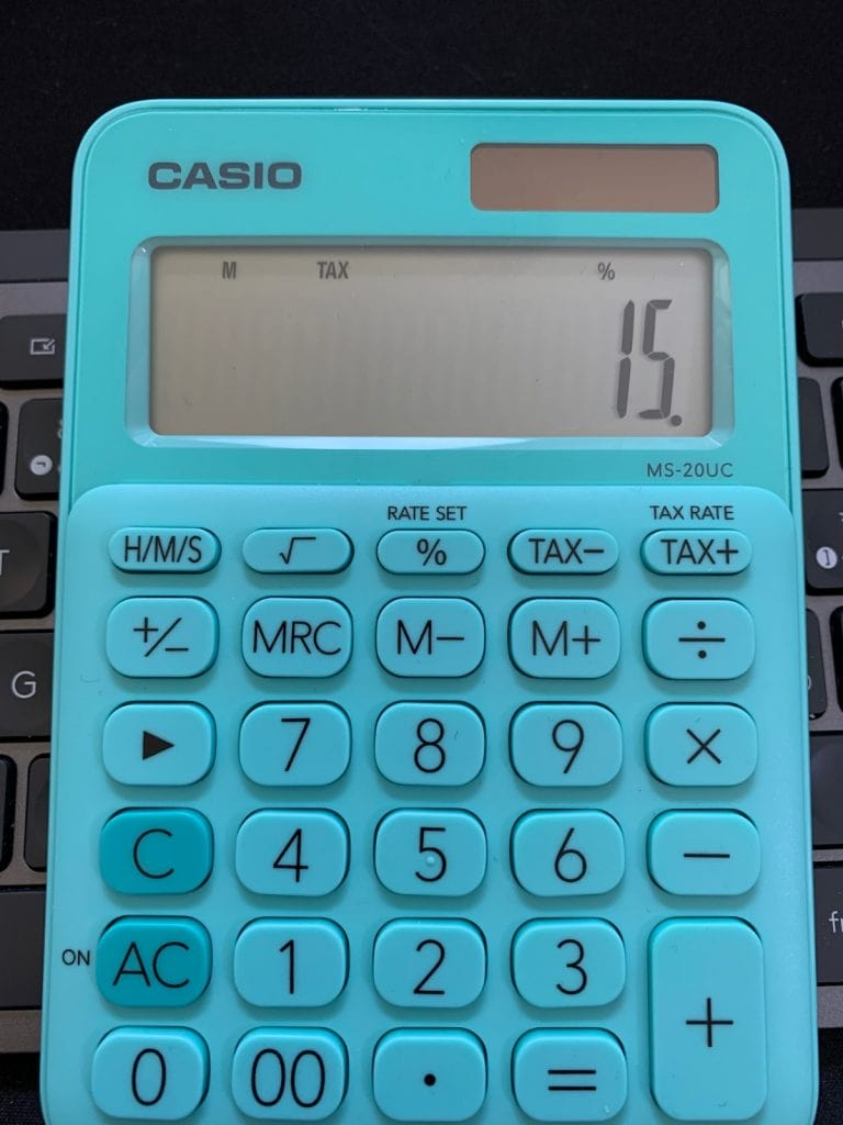 Para ajustar la taza de impuesto tienes que hacer lo siguiente (ejemplo): de 0% a 15%