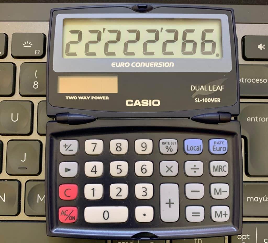 Calculadora de bolsillo Casio SL-100VER