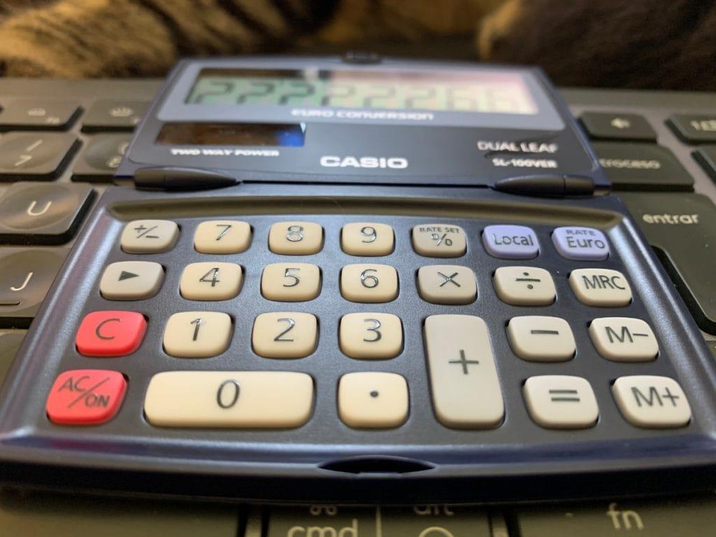 Calculadora de bolsillo Casio SL-100VER: teclas