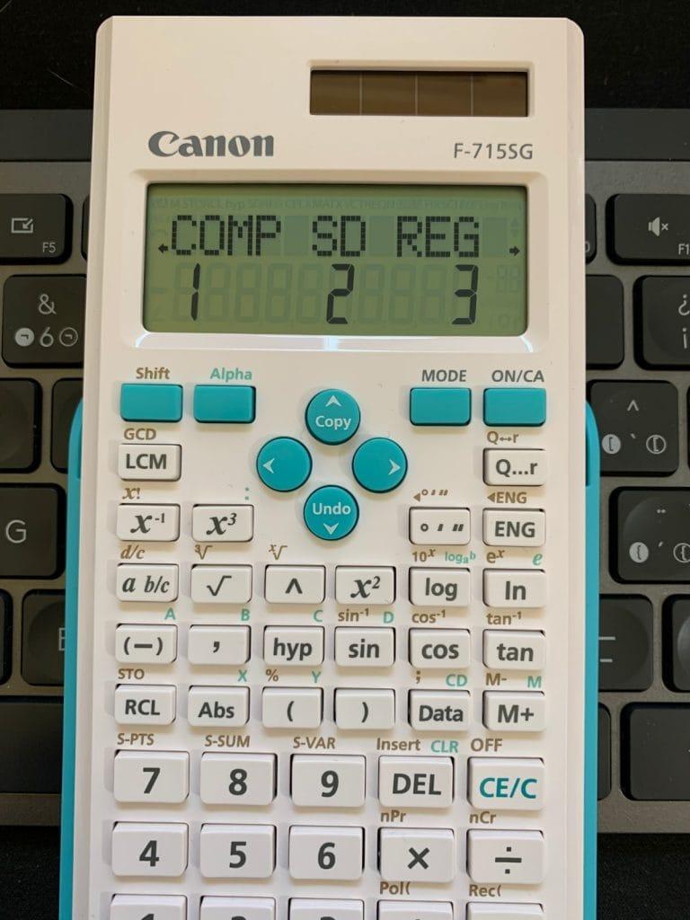 Calculadora científica Canon F-715SG: funciones