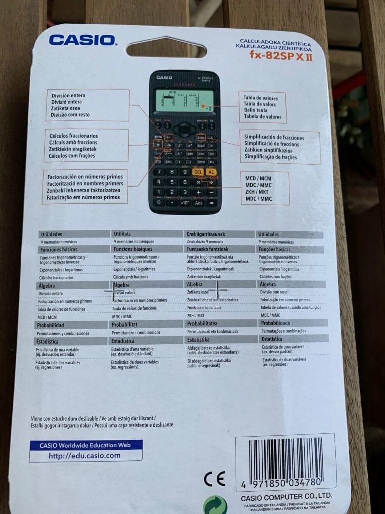 Casio fx-82 SP X II Iberia: calculadora cientifica