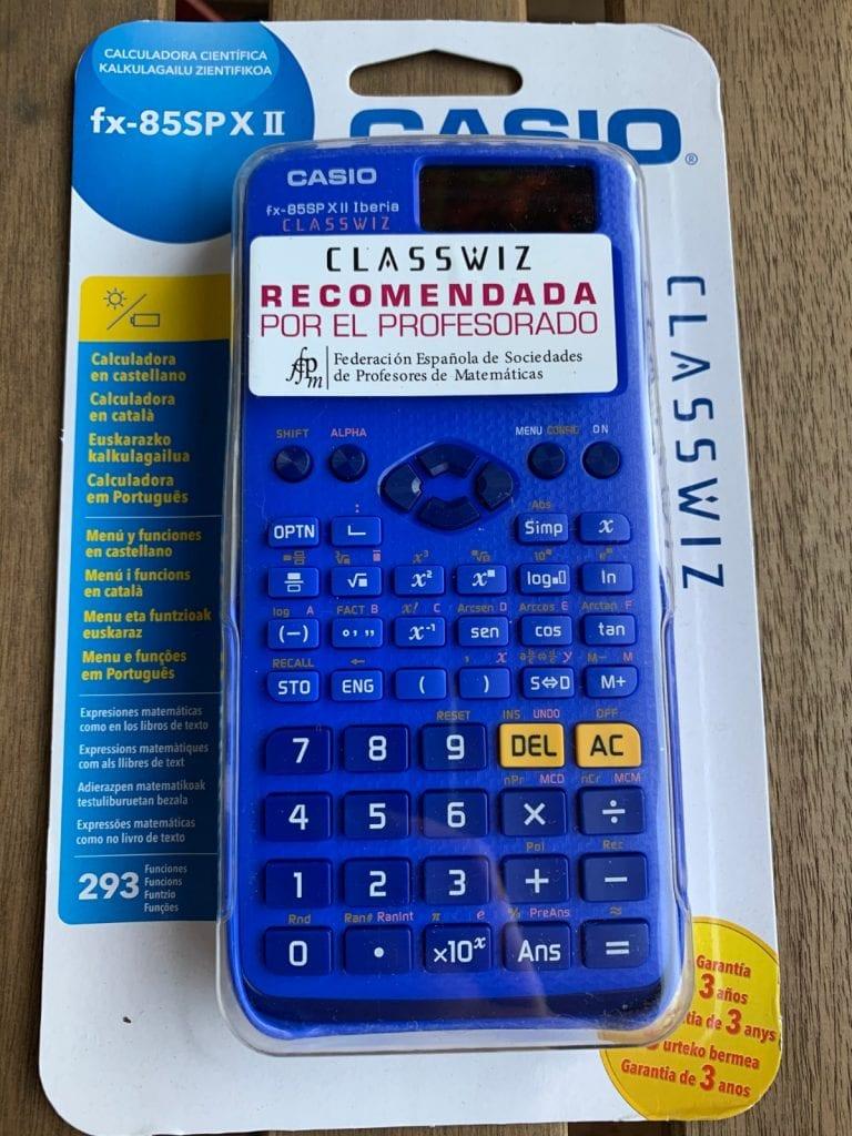 Casio fx-85 SP X II Iberia: caja
