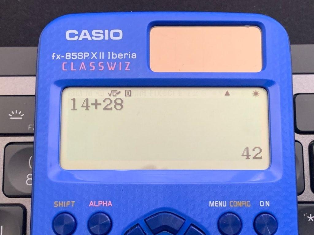 Casio fx-85 SP X II Iberia: pantalla y operaciones