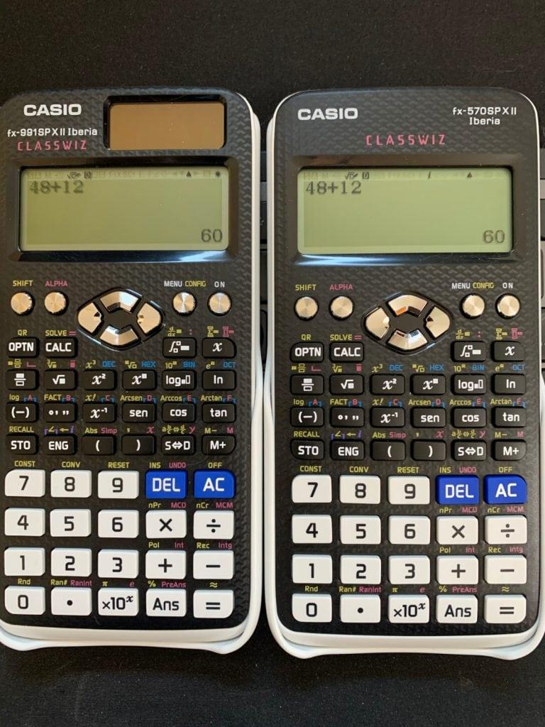 Casio fx-991SP X II Iberia y Casio fx-570SP X II IberiaCasio fx-991SP X II Iberia y Casio fx-570SP X II Iberia: pantalla