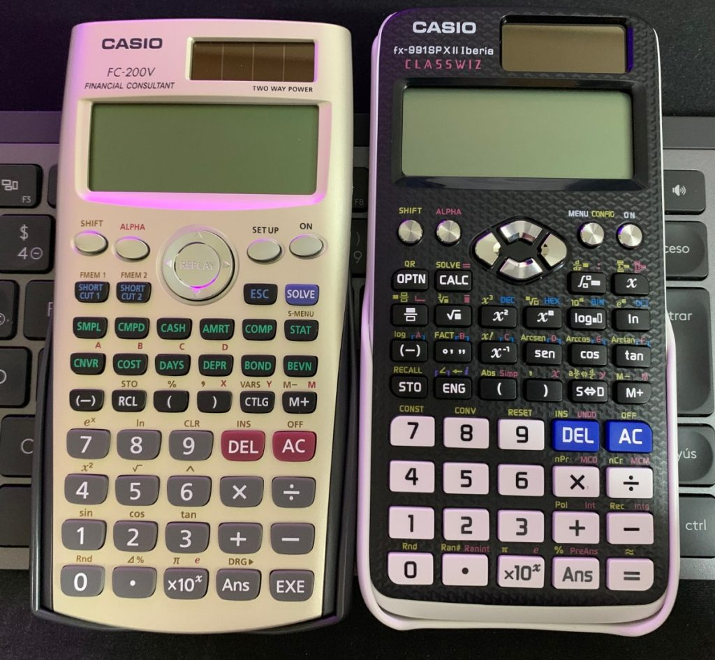 Calculadora financiera Casio FC-200V vs. Calculadora científica Casio fx-991SP X II Iberia