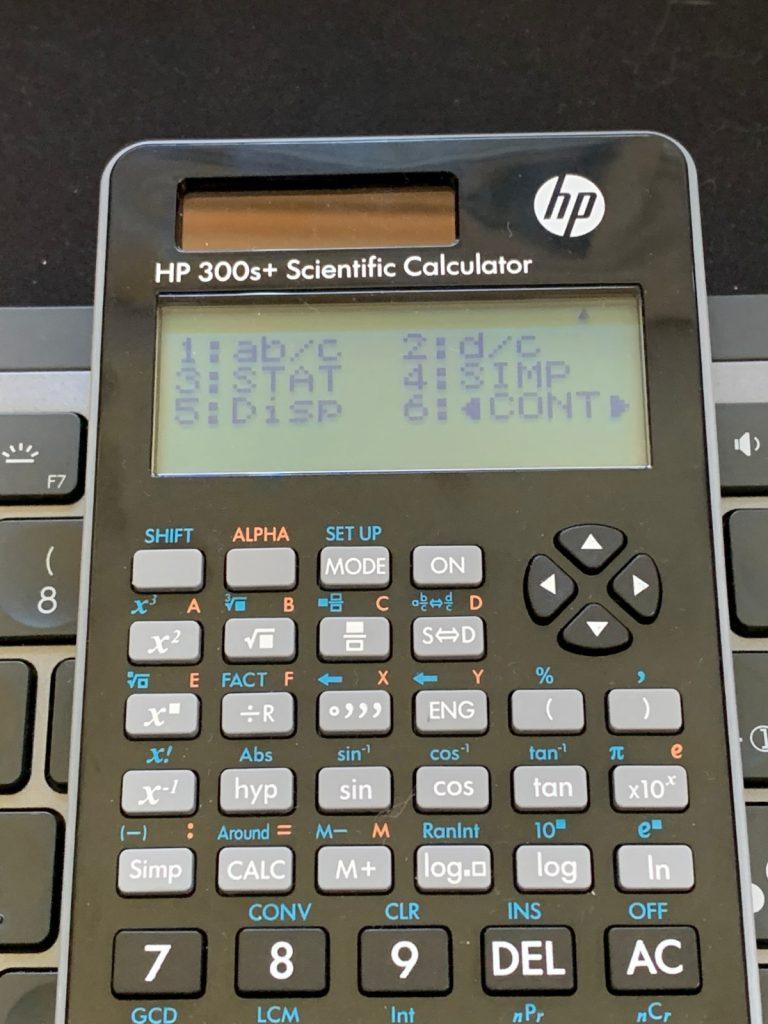 Calculadora científica HP 300s+: funciones