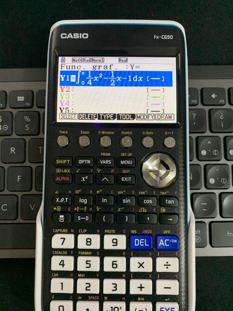 Casio FX-CG50 - Calculadora gráfica: representación de función