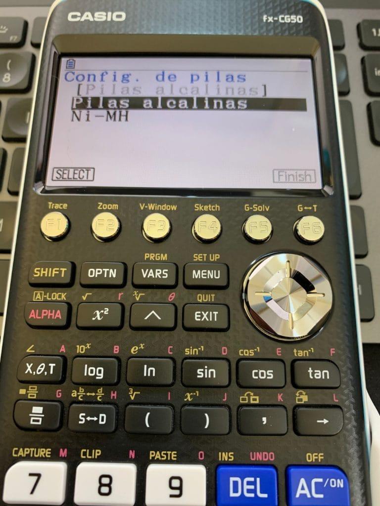 Casio FX-CG50  - Calculadora gráfica: encendido