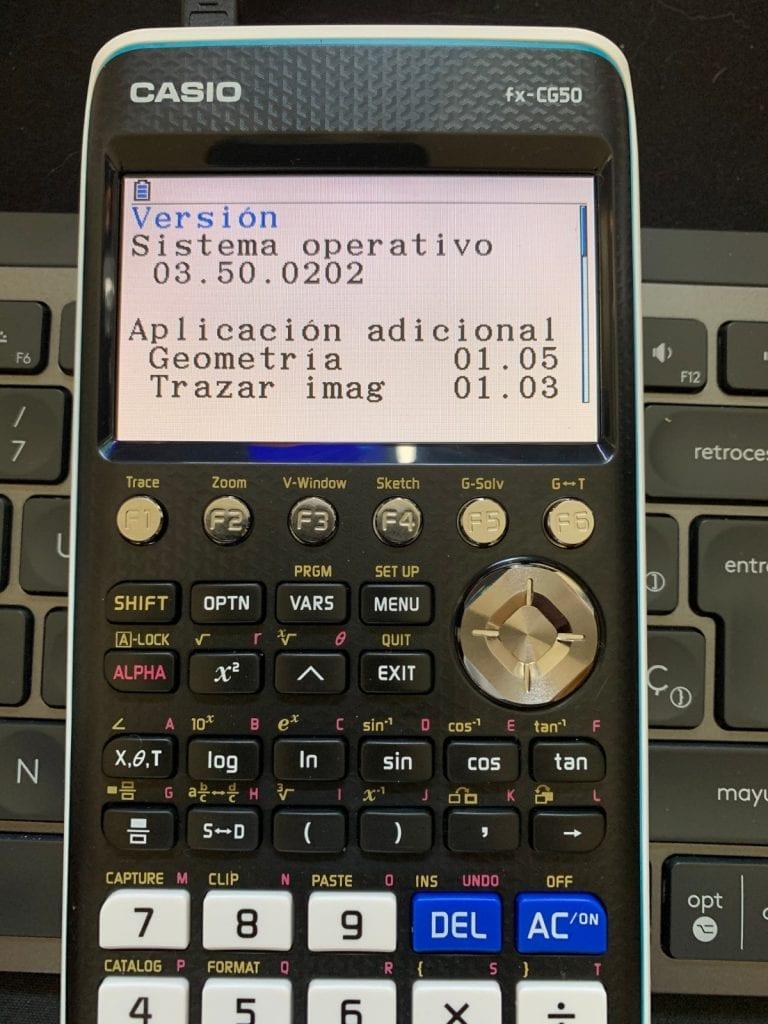 Casio FX-CG50  - Calculadora gráfica: actualización SO
