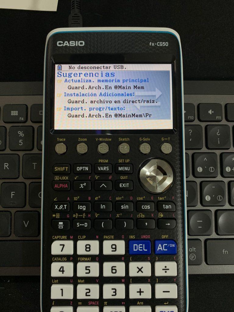 Casio FX-CG50  - Calculadora gráfica: conexión ordenador
