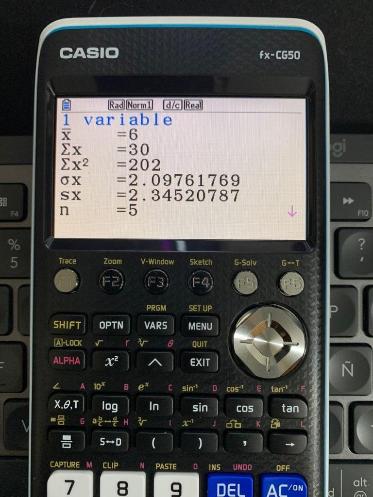 Casio FX-CG50 - Calculadora gráfica: representación de datos en el modo Estadística
