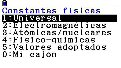 Casio FX-CG50 - Calculadora gráfica: constantes físicas