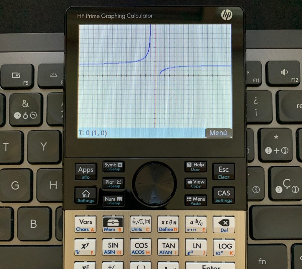 HP Prime Graphing Calculator: grafica función en app parametrica