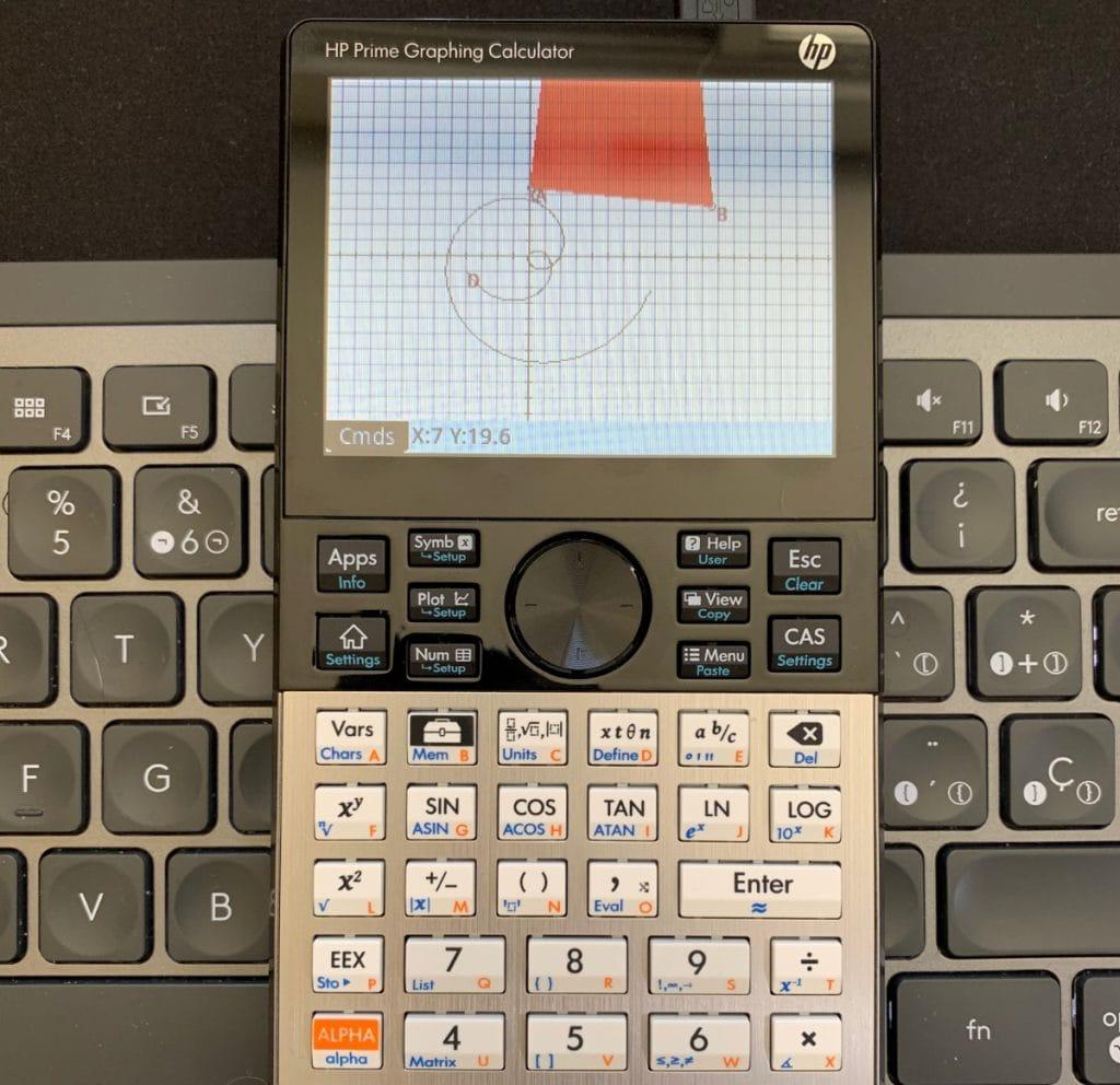 HP Prime Graphing Calculator: solucionador de triángulos