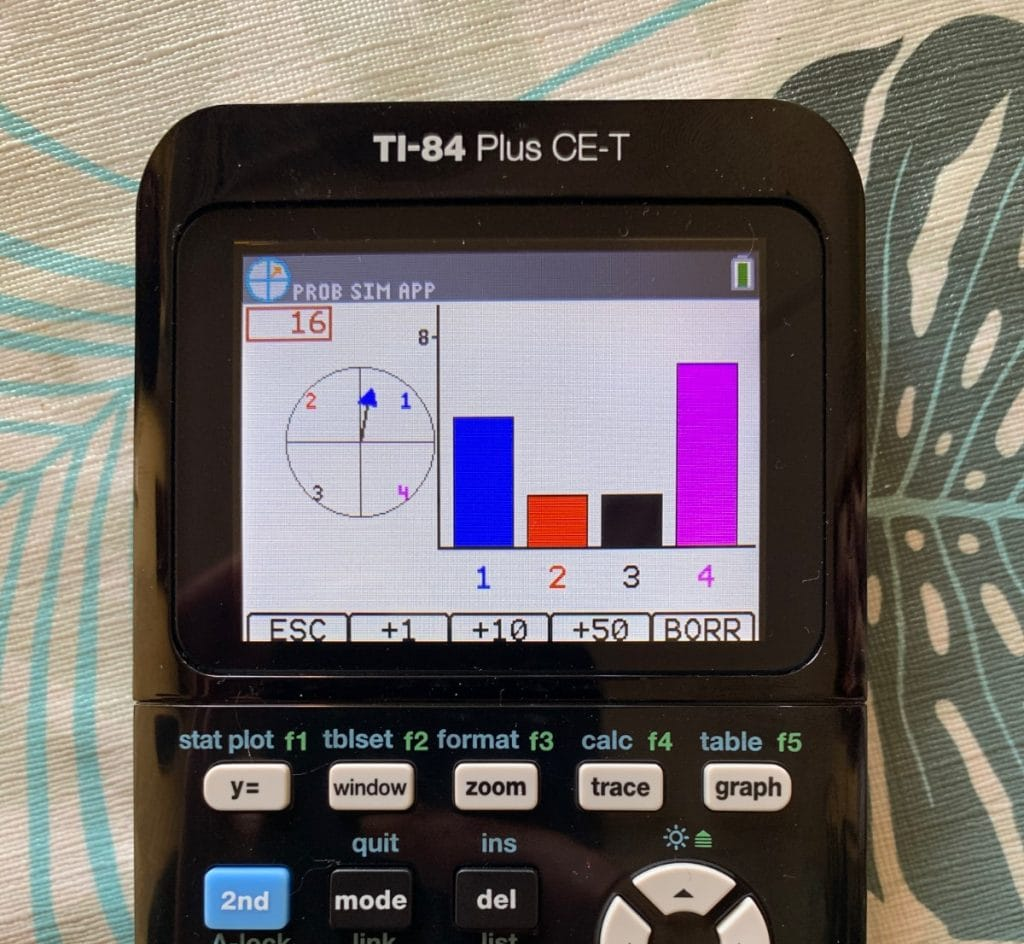 Texas Instruments TI-84 Plus CE-T: Simulación de probabilidad
