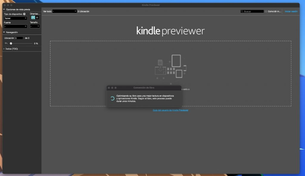 ¿Otra manera de convertir a formatos compatibles con Kindle? Usa Kindle Previewer
