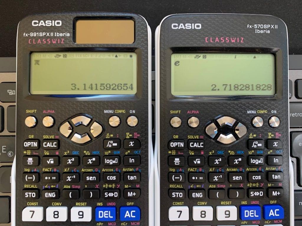 numero pi y numero e en calculadora casio