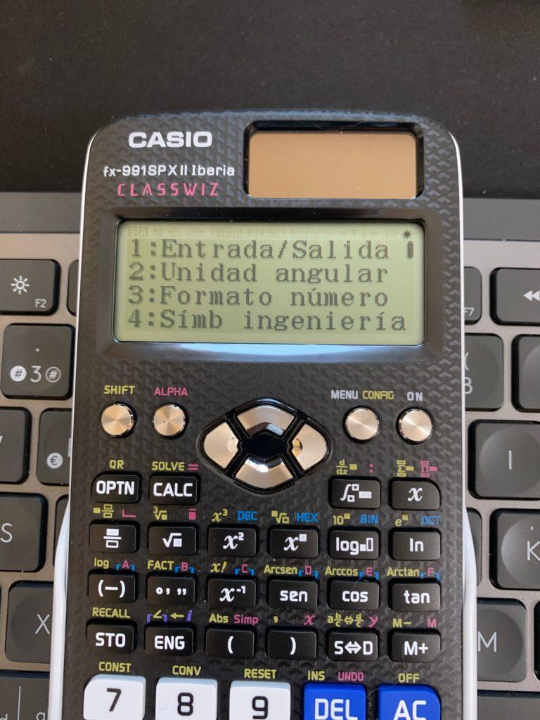 Casio fx-991SP X II Iberia y Casio fx-570SP X II Iberia: entrada y salida