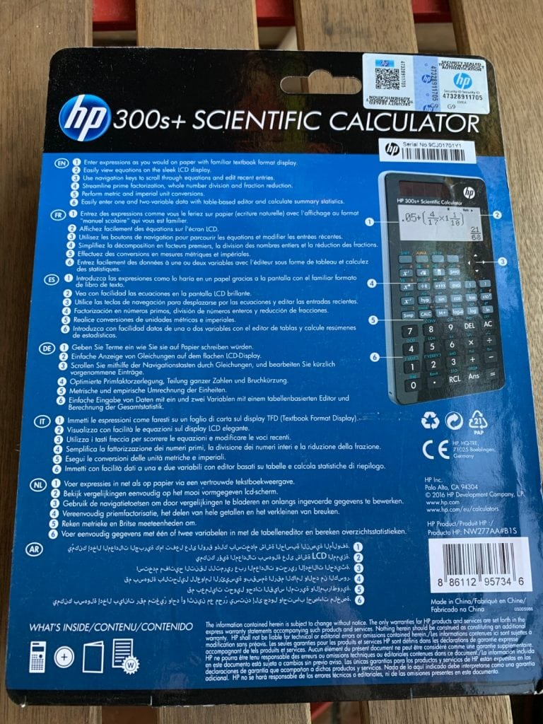 Calculadora científica HP 300s+