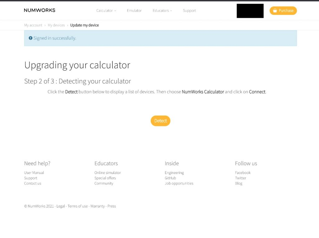NumWorks Calculadora Gráfica: pasos web para actualización
