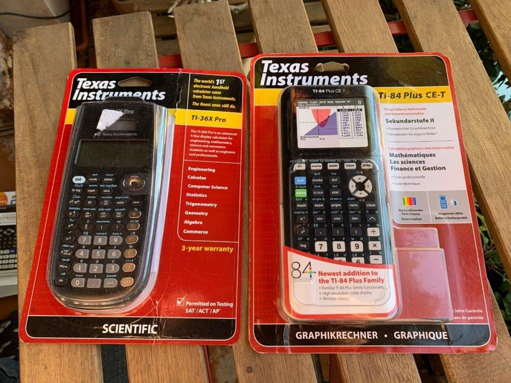 Texas Instruments TI-36X Pro y TI-84 Plus CE-T