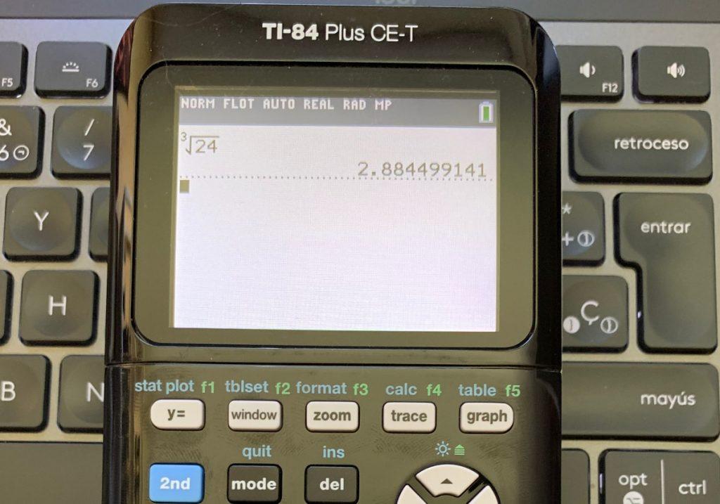 Texas Instruments TI-84 Plus CE-T: operación matematica