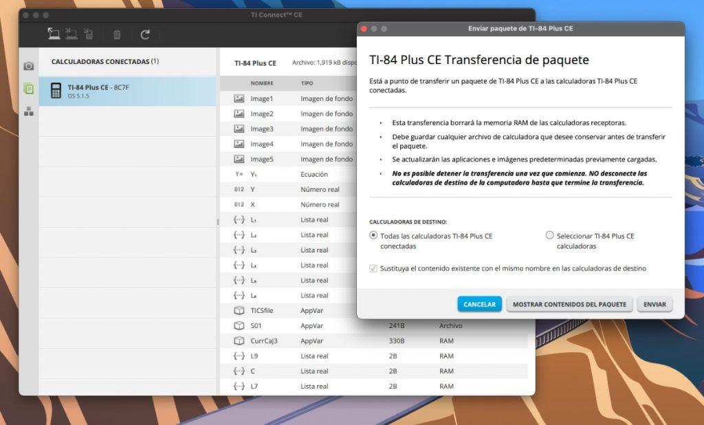 Texas Instruments TI-84 Plus CE-T: actualización SO