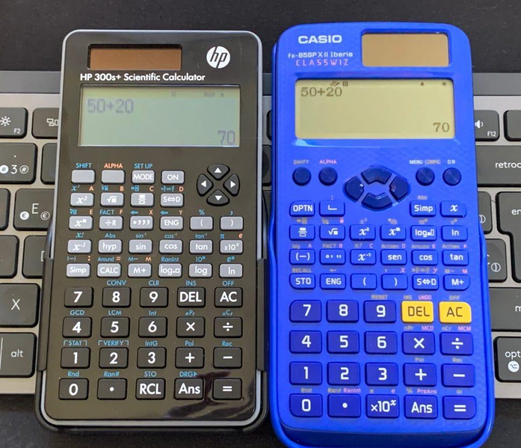 Calculadora hp 300s+ vs casio fx-82sp x ii Iberia